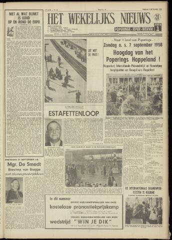 Het Wekelijks Nieuws (1946-1990) 1958-09-05