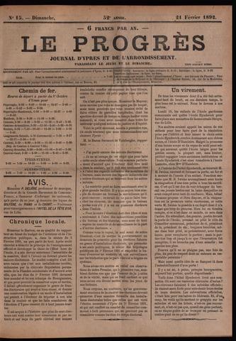 Le Progrès (1841-1914) 1892-02-21