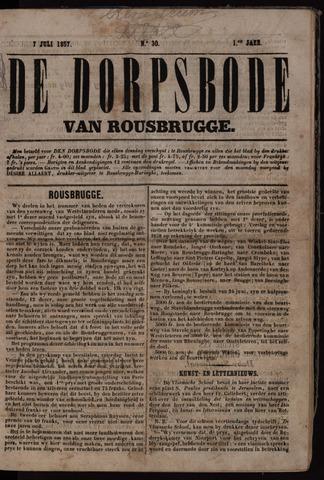 De Dorpsbode van Rousbrugge (1856-1857 en 1860-1862) 1857-07-07