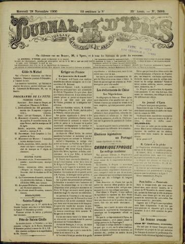 Journal d'Ypres (1874 - 1913) 1900-11-28