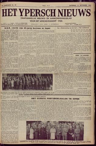 Het Ypersch nieuws (1929-1971) 1962-09-22
