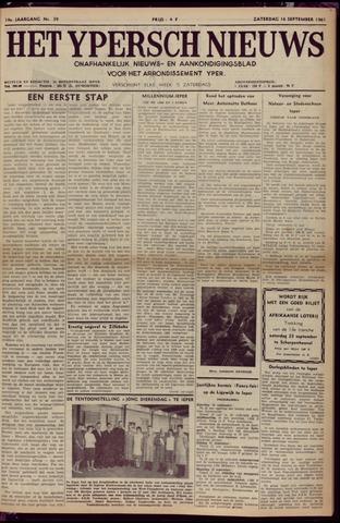 Het Ypersch nieuws (1929-1971) 1961-09-16