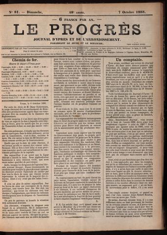 Le Progrès (1841-1914) 1888-10-07