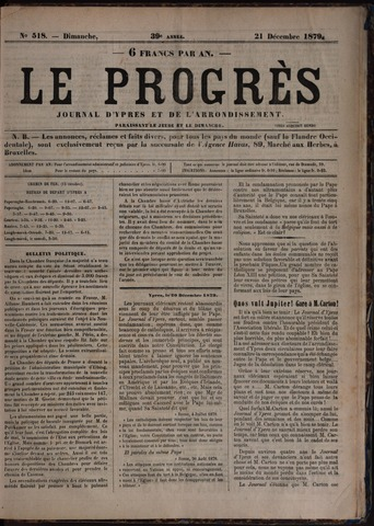 Le Progrès (1841-1914) 1879-12-21