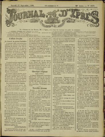 Journal d'Ypres (1874 - 1913) 1898-09-17