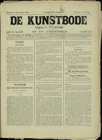 De Kunstbode (1880 - 1883) 1881-12-04