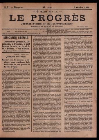 Le Progrès (1841-1914) 1892-10-09