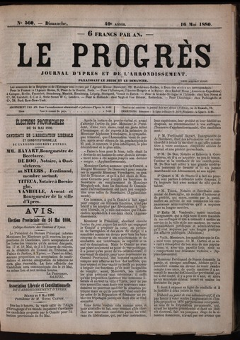Le Progrès (1841-1914) 1880-05-16