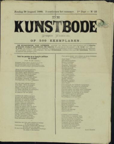 De Kunstbode (1880 - 1883) 1880-08-29