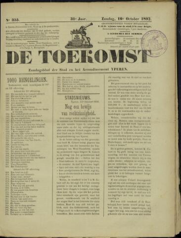 De Toekomst (1862 - 1894) 1892-10-16