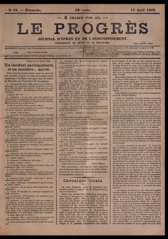 Le Progrès (1841-1914) 1892-04-17