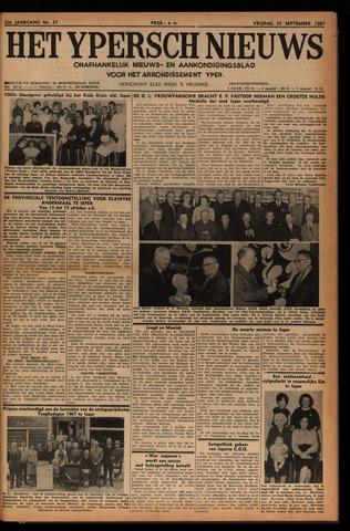 Het Ypersch nieuws (1929-1971) 1967-09-29
