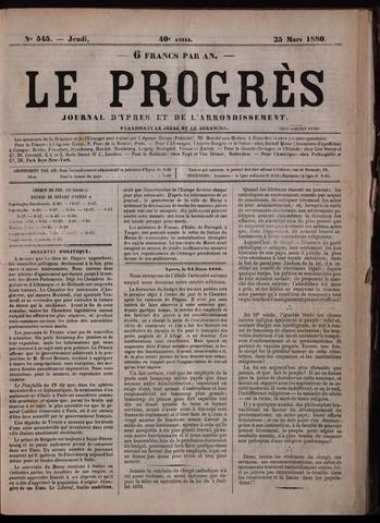Le Progrès (1841-1914) 1880-03-25