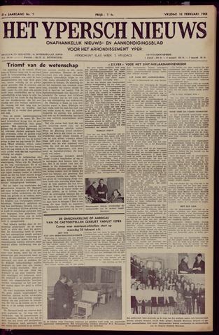 Het Ypersch nieuws (1929-1971) 1968-02-16