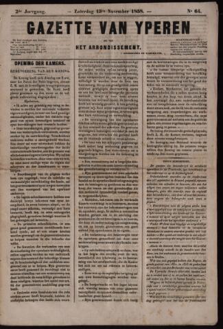 Gazette van Yperen (1857-1862) 1858-11-13