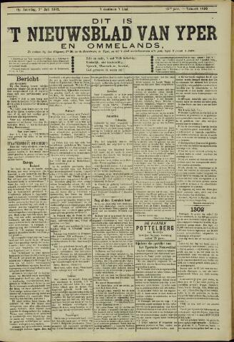 Nieuwsblad van Yperen en van het Arrondissement (1872 - 1912) 1902-07-05