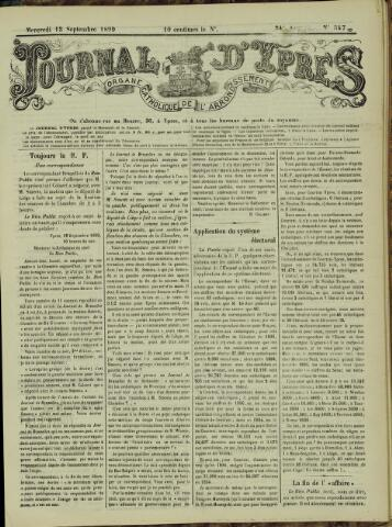 Journal d'Ypres (1874 - 1913) 1899-09-13