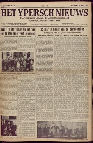 Het Ypersch nieuws (1929-1971) 1964-04-18