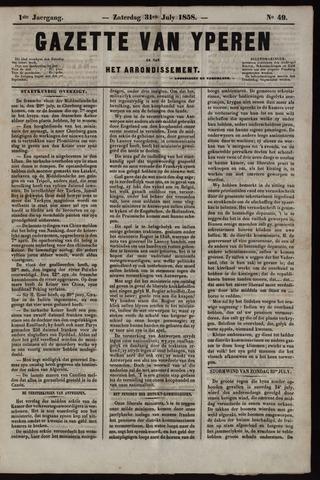 Gazette van Yperen (1857-1862) 1858-07-31