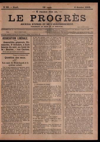 Le Progrès (1841-1914) 1892-10-06
