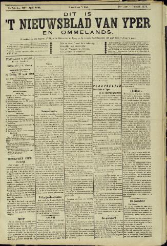 Nieuwsblad van Yperen en van het Arrondissement (1872 - 1912) 1899-04-22