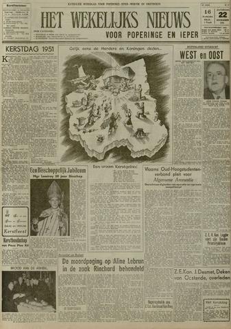Het Wekelijks Nieuws (1946-1990) 1951-12-22