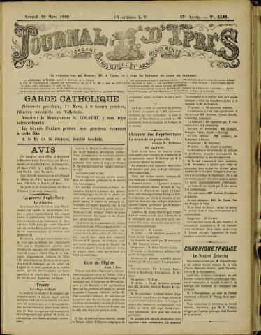Journal d'Ypres (1874 - 1913) 1900-03-10