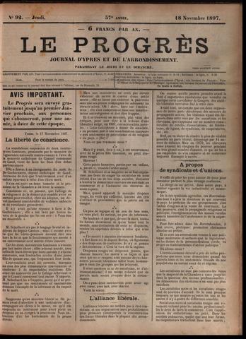 Le Progrès (1841-1914) 1897-11-18