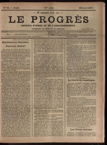 Le Progrès (1841-1914) 1897-04-29