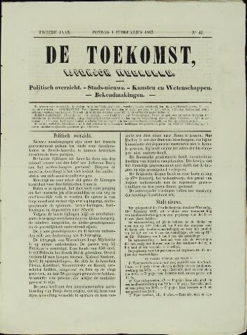 De Toekomst (1862 - 1894) 1863-02-01