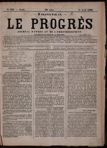 Le Progrès (1841-1914) 1880-04-01