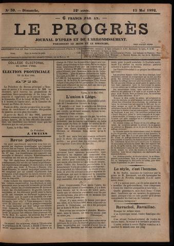 Le Progrès (1841-1914) 1892-05-15