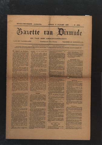 Gazette van Dixmude 1891-01-04