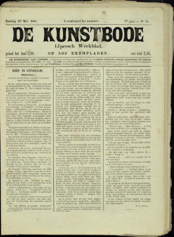 De Kunstbode (1880 - 1883) 1881-05-22