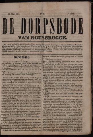 De Dorpsbode van Rousbrugge (1856-1857 en 1860-1862) 1857-07-14