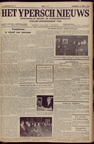 Het Ypersch nieuws (1929-1971) 1964-04-25