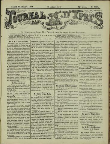 Journal d'Ypres (1874 - 1913) 1899-10-28