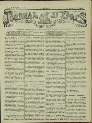 Journal d'Ypres (1874 - 1913) 1899-09-02