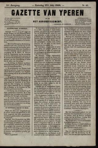Gazette van Yperen (1857-1862) 1858-07-17