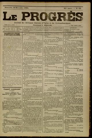 Le Progrès (1841-1914) 1905-12-24