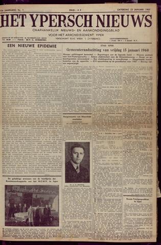 Het Ypersch nieuws (1929-1971) 1960-01-23