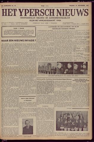 Het Ypersch nieuws (1929-1971) 1967-11-24