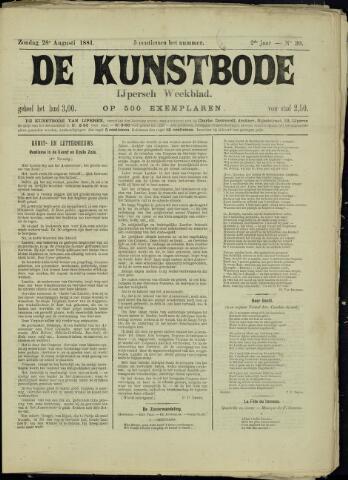 De Kunstbode (1880 - 1883) 1881-08-28