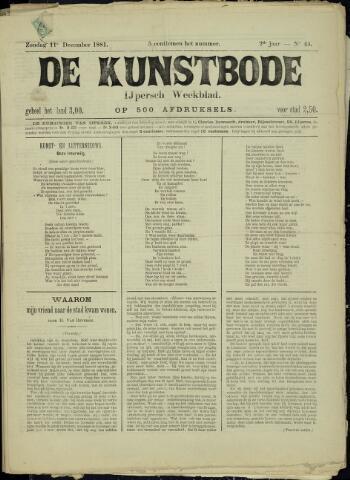 De Kunstbode (1880 - 1883) 1881-12-11