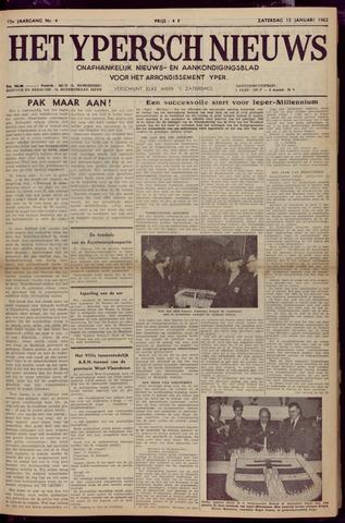 Het Ypersch nieuws (1929-1971) 1962-01-13
