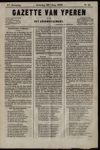 Gazette van Yperen (1857-1862) 1858-06-26