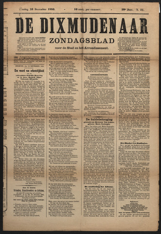 De Dixmudenaar 1883-12-23
