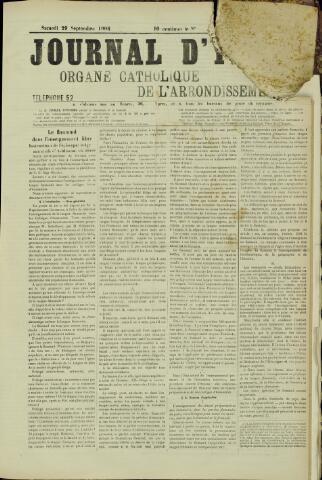 Journal d'Ypres (1874 - 1913) 1906-09-29