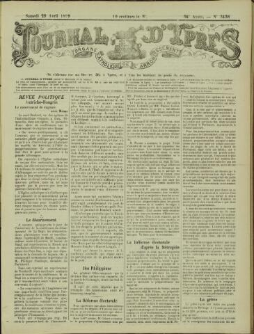 Journal d'Ypres (1874 - 1913) 1899-04-29