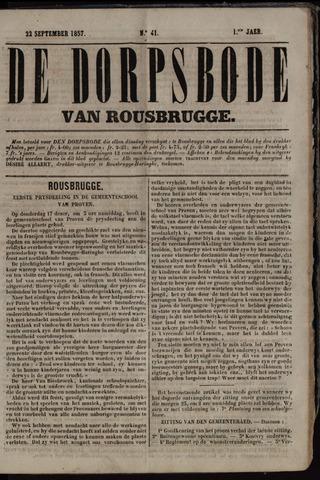 De Dorpsbode van Rousbrugge (1856-1857 en 1860-1862) 1857-09-22